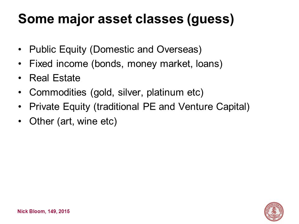 Nick Bloom, 149, 2015 Example PE fund