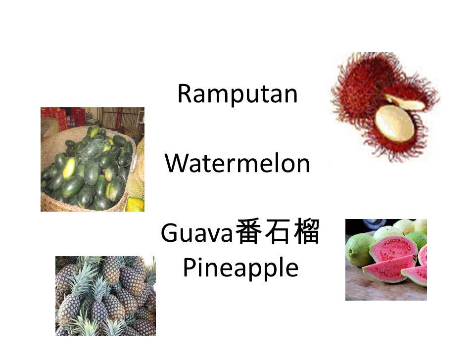 Ramputan Watermelon Guava 番石榴 Pineapple