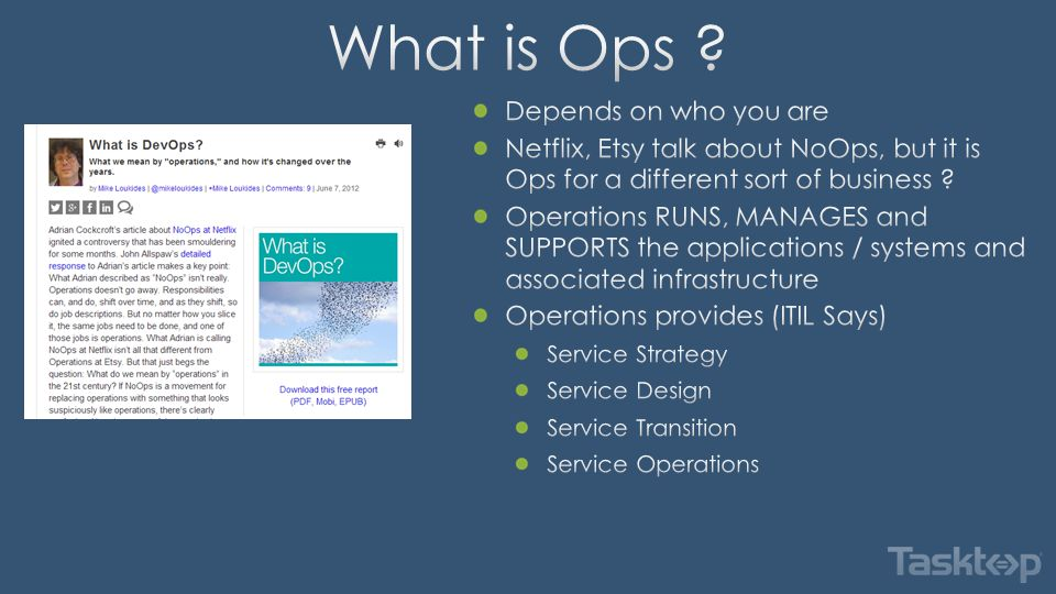 Operations send email and update spreadsheets for ticket information Spreadsheets are used for ticket status reporting and analytics Email used for high severity defects and issues Information is aggregated periodically to create total quality metrics