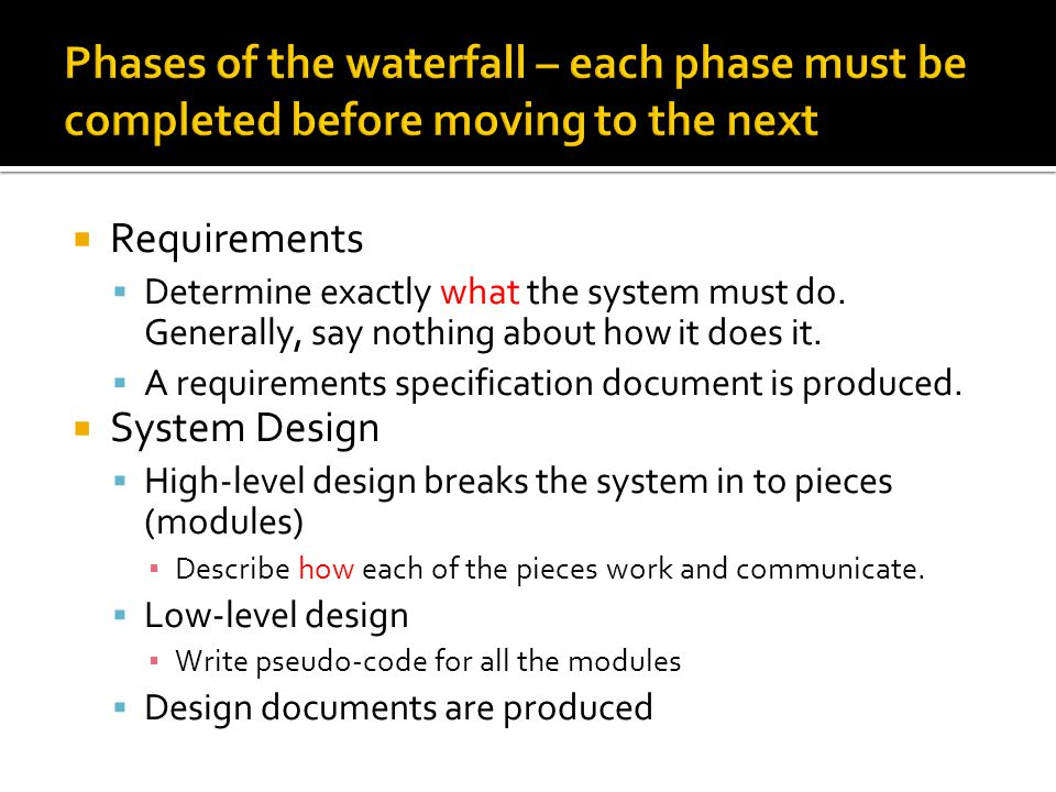  Implementation (Coding)  Typically cited as expected to take 10-15% of project time.