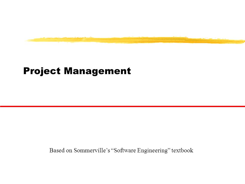 "Project Management Based on Sommerville's ""Software Engineering"" textbook"