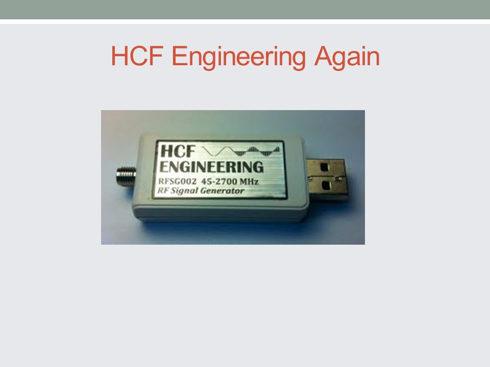 HCF Engineering Again