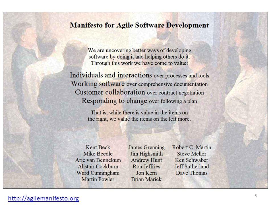 http://agilemanifesto.org 6