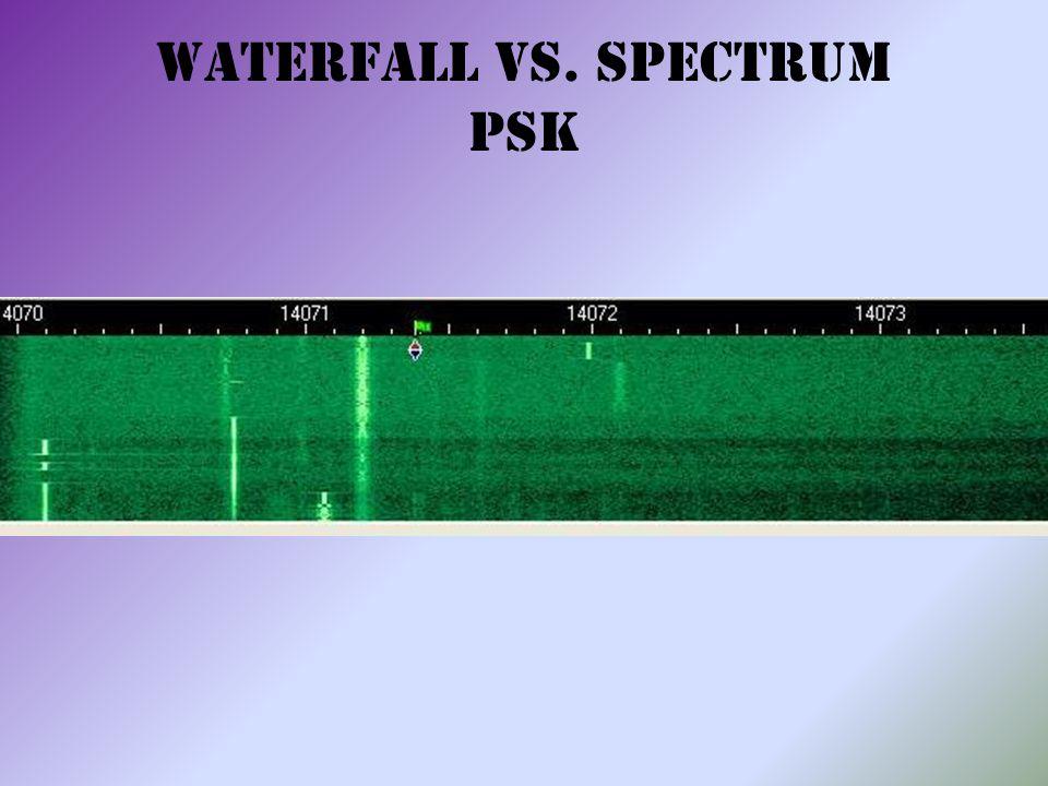 Waterfall vs. Spectrum PSK