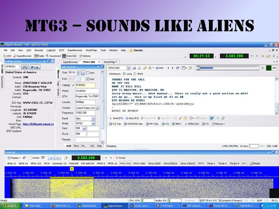 MT63 – Sounds like Aliens