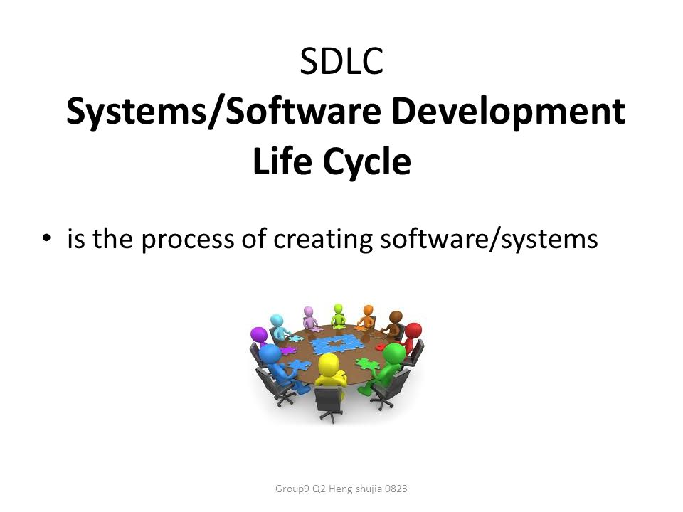 SDLC Systems/Software Development Life Cycle is the process of creating software/systems Group9 Q2 Heng shujia 0823