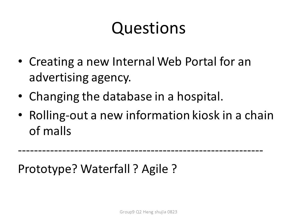 Questions Creating a new Internal Web Portal for an advertising agency.