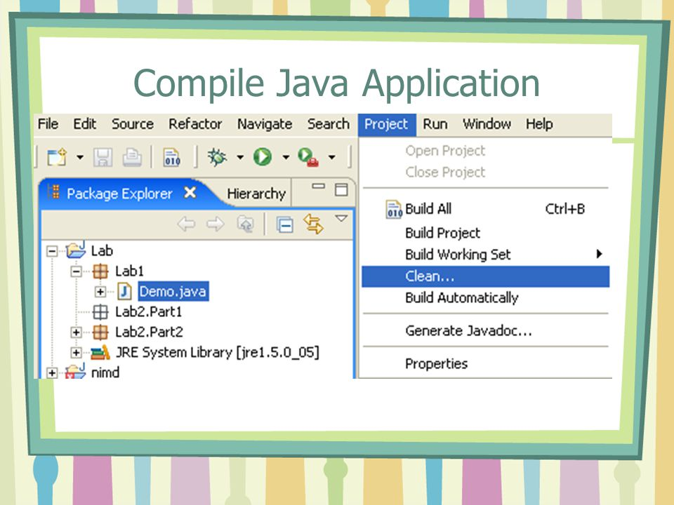 Compile Java Application
