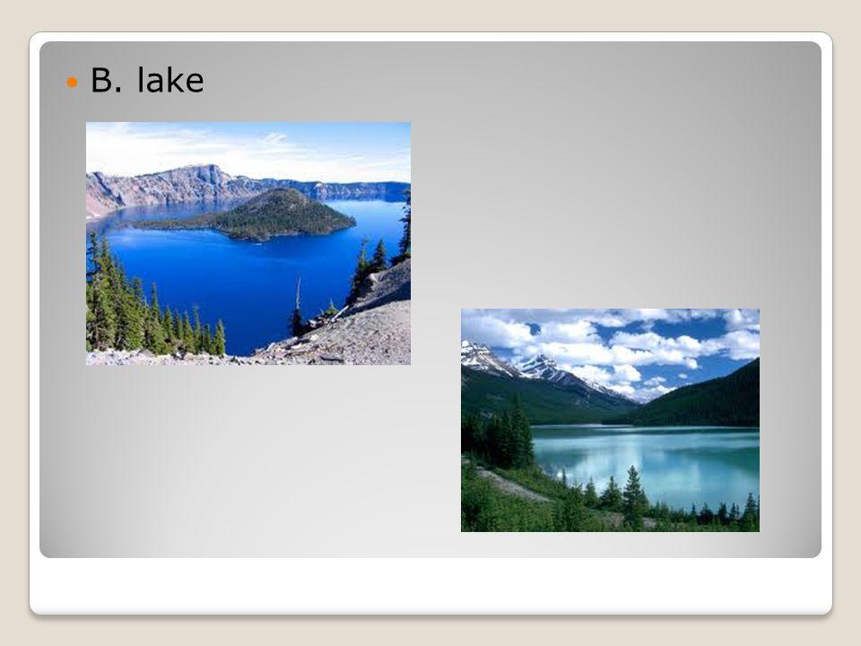B. lake