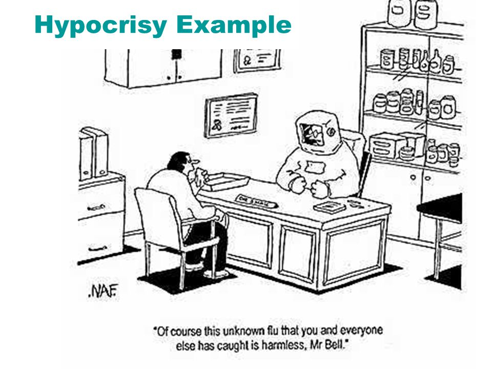 What is hypocrisy? The act of condemning another person when the critic is guilty of the act for which he/she demands that the accused be condemned Th
