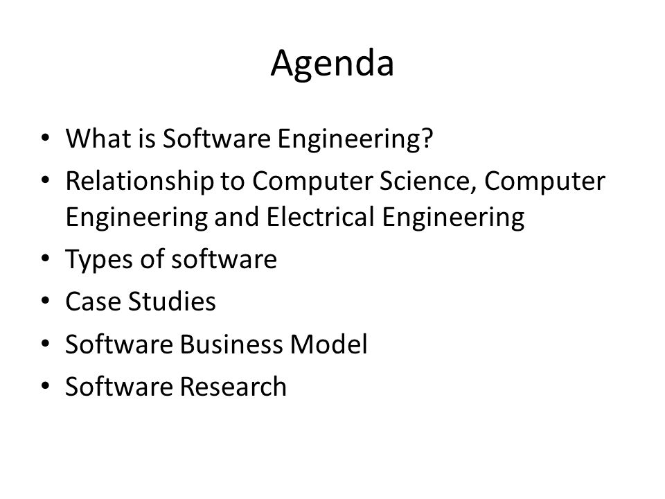 What is Software Engineering The application of a systematic, disciplined, quantifiable approach to the development, operation, and maintenance of software and a study of those approaches that allow application of engineering to software The ability to design and develop a software intensive system, on time, within costs to an acceptable level of performance
