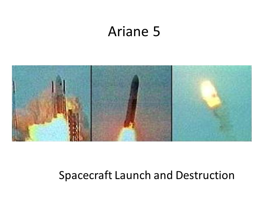 Ariane 5 Spacecraft Launch and Destruction