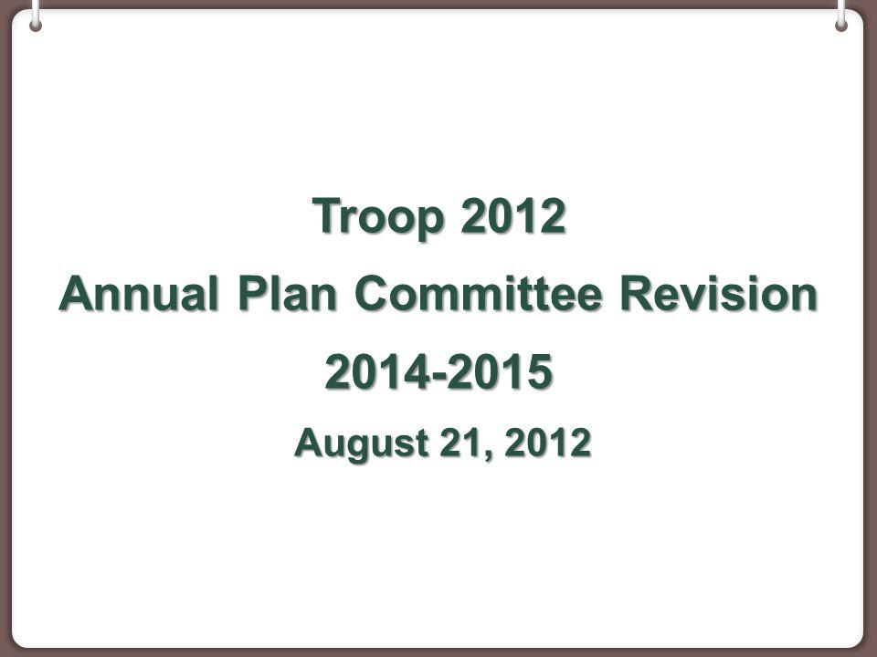 September Event Planning Sept.9 - Troop meeting planner Sept.