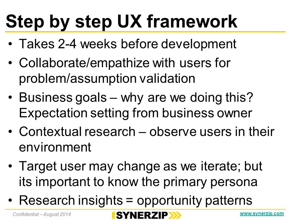 Intro to the UX world Roles − researchers, information architects, visual designers, CSS devs, accessibility experts Aversion to time boxing; Centralized / Isolated UX needs to be integrated at portfolio, program and product levels; hence it's hard to integrate User research/personas etc.