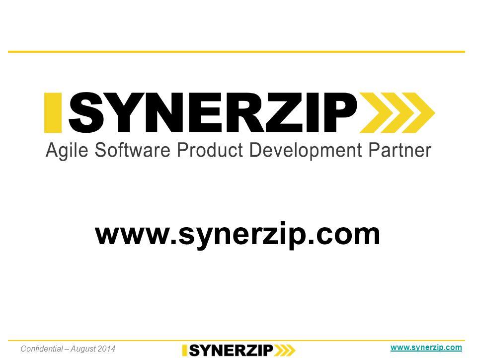 www.synerzip.com Questions Confidential – August 2014