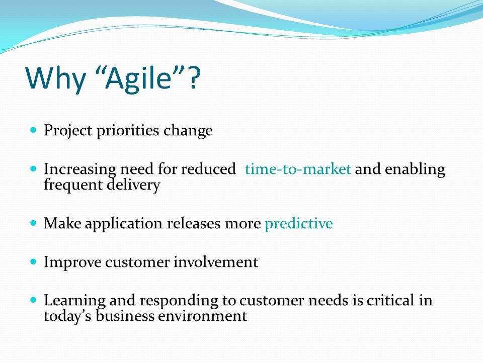 Why Agile .