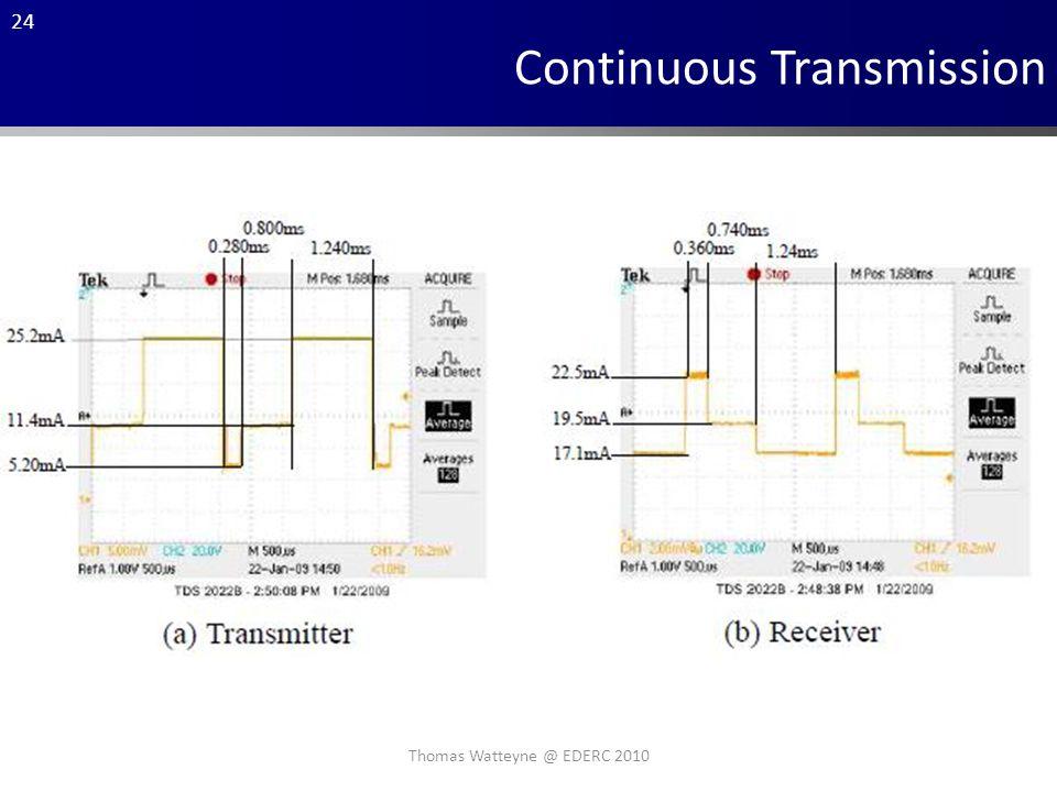 24 Continuous Transmission Thomas Watteyne @ EDERC 2010