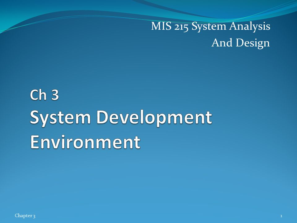 A Modern Approach to Systems Analysis and Design Systems Integration Allows hardware and software from different vendors to work together Enables procedural language systems to work with visual programming systems Visual programming environment uses client/server model Chapter 312