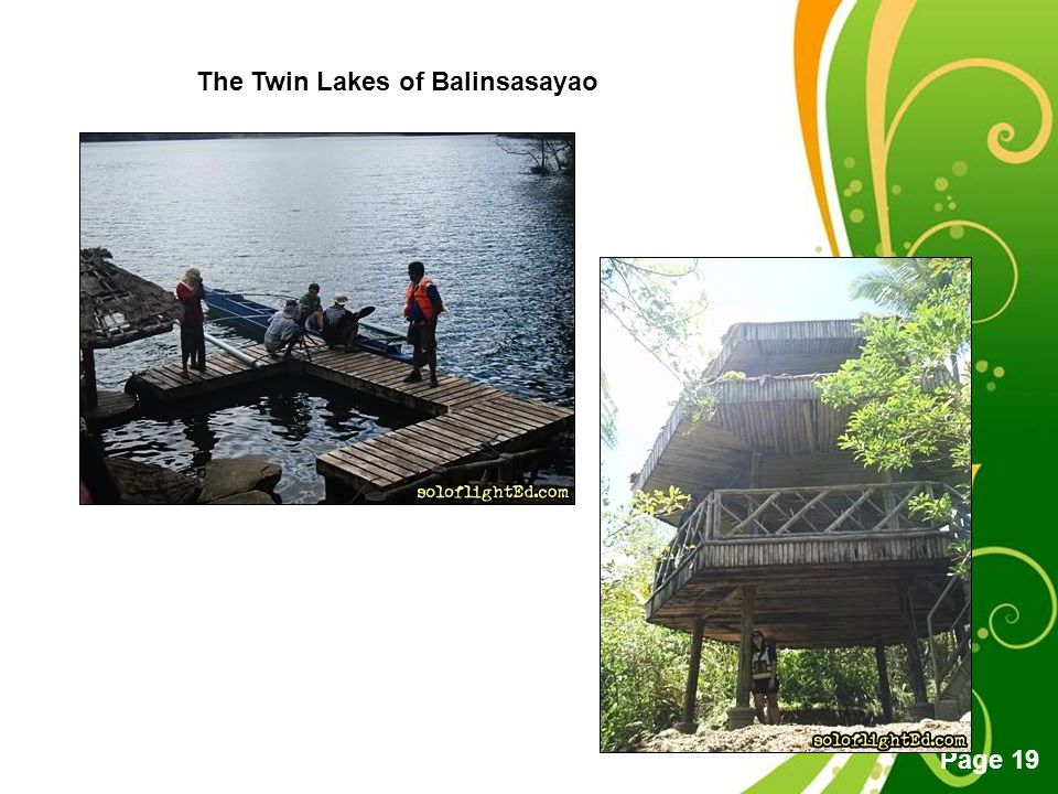 Free Powerpoint Templates Page 19 The Twin Lakes of Balinsasayao