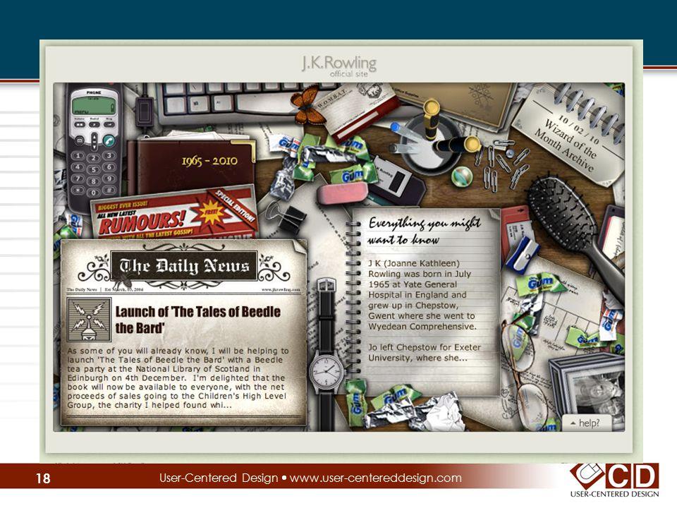 User-Centered Design  www.user-centereddesign.com 18