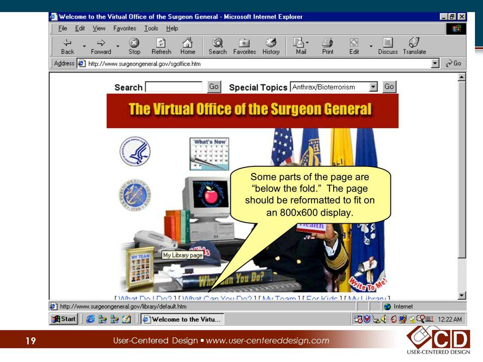 User-Centered Design  www.user-centereddesign.com 19