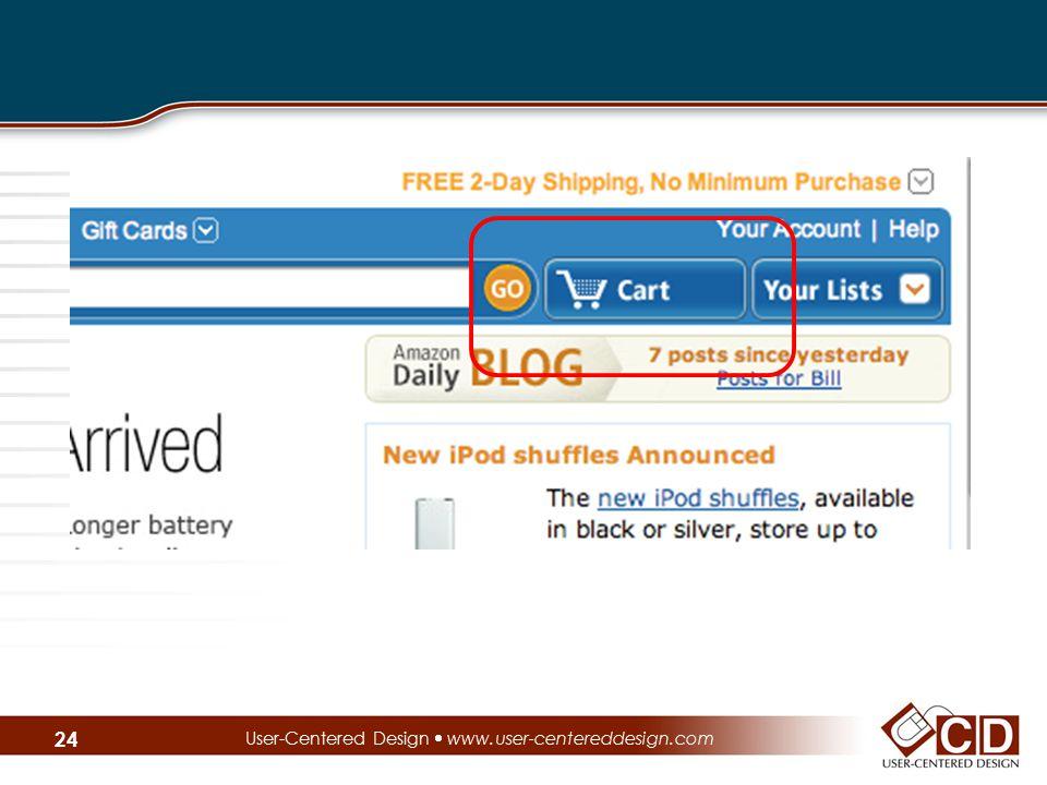 User-Centered Design  www.user-centereddesign.com 24