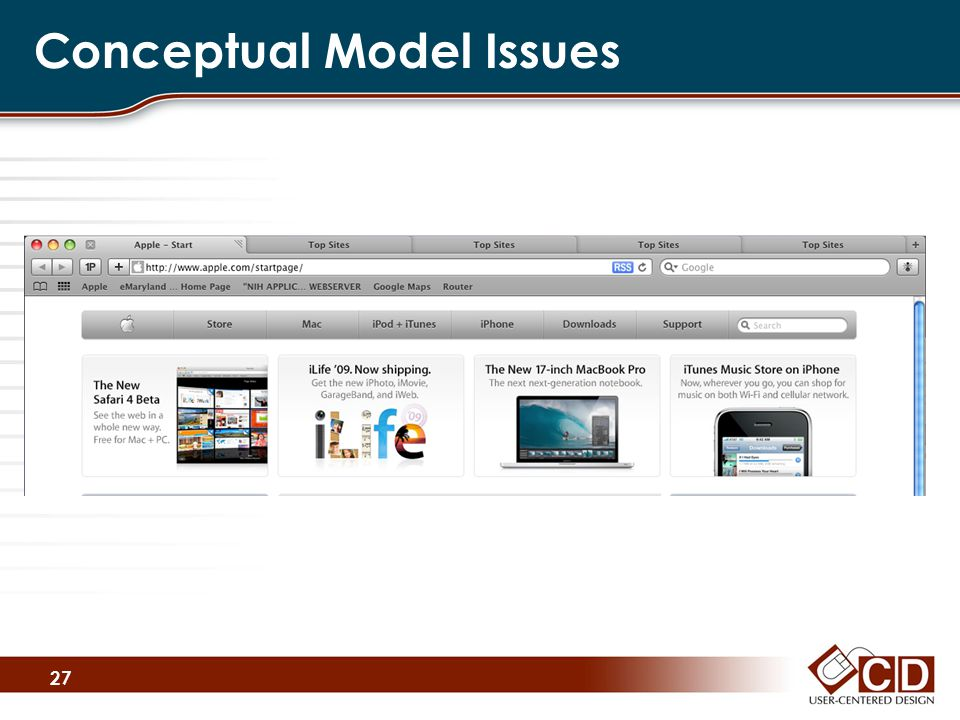 Conceptual Model Issues 27