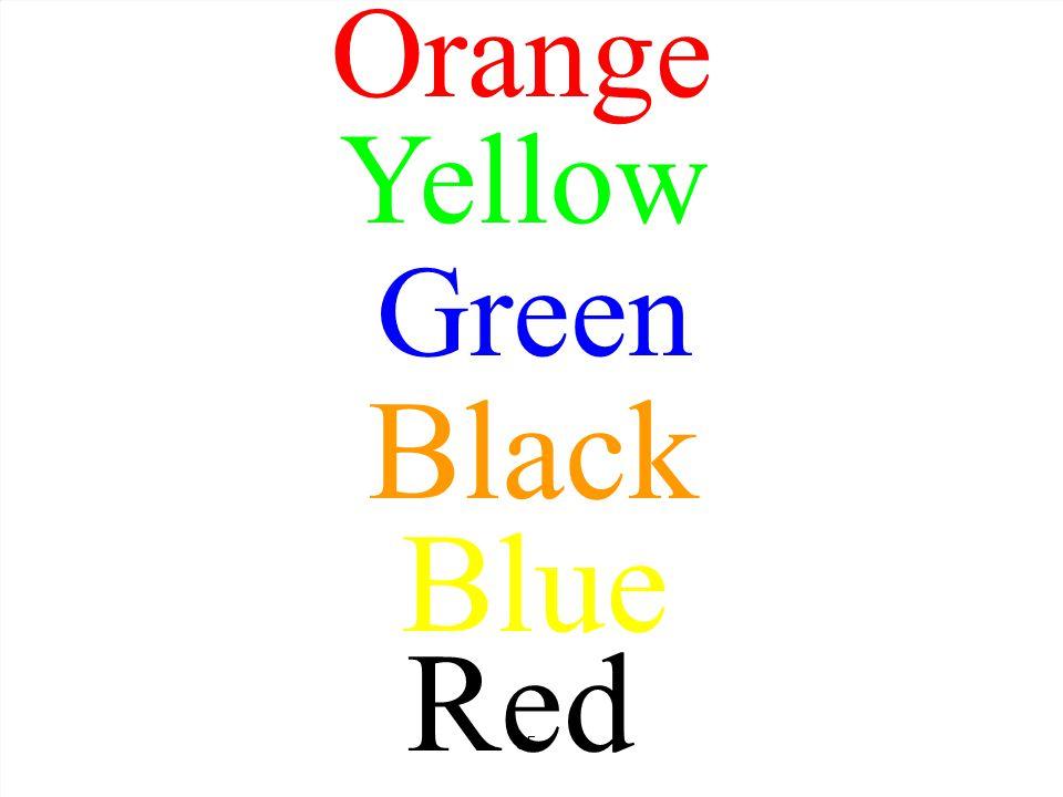 Orange Yellow Green Black Blue Red 55