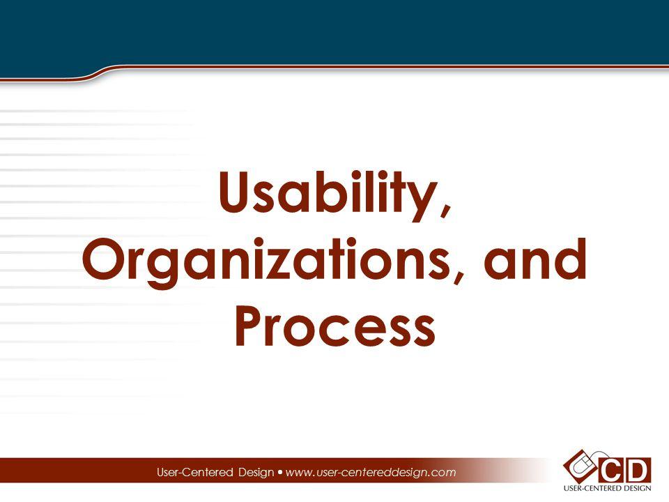 Usability, Organizations, and Process User-Centered Design  www.user-centereddesign.com