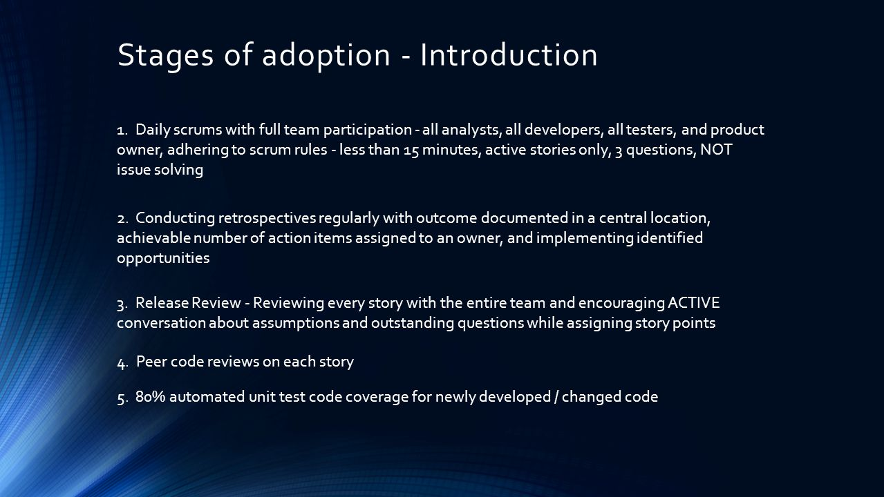 Stages of adoption - Introduction 1.