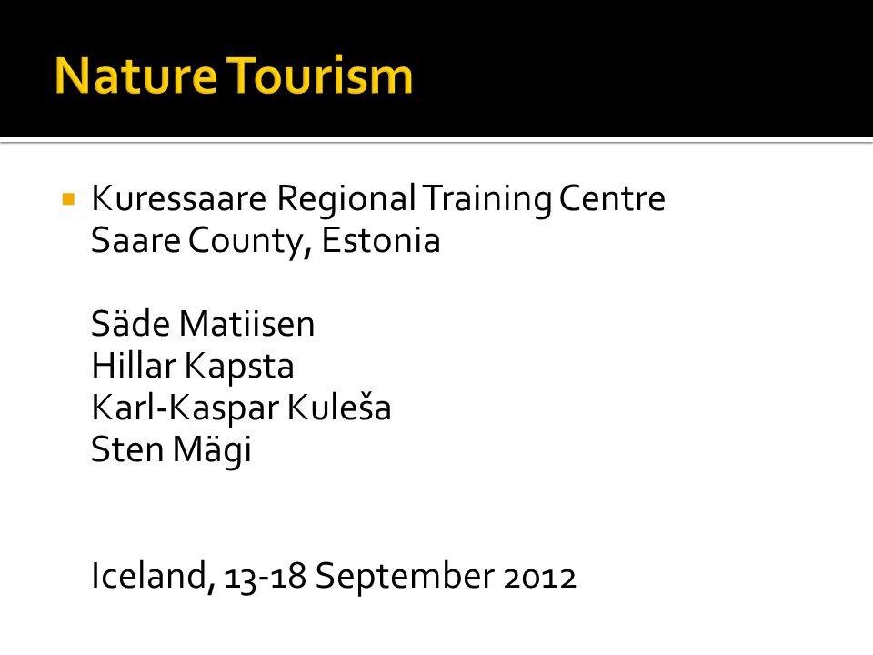  Kuressaare Regional Training Centre Saare County, Estonia Säde Matiisen Hillar Kapsta Karl-Kaspar Kuleša Sten Mägi Iceland, 13-18 September 2012