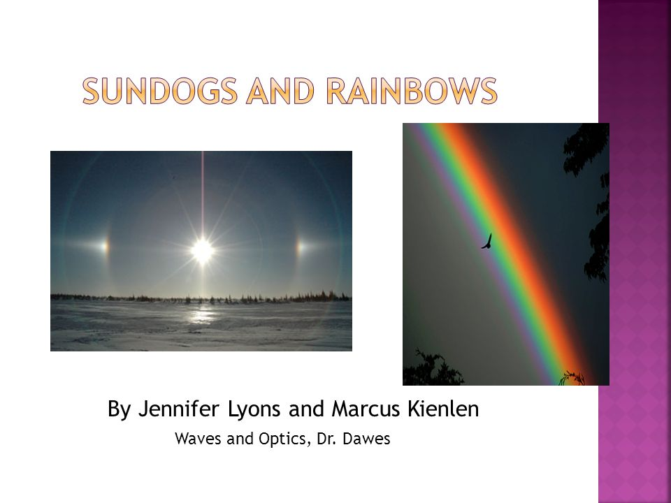 By Jennifer Lyons and Marcus Kienlen Waves and Optics, Dr. Dawes