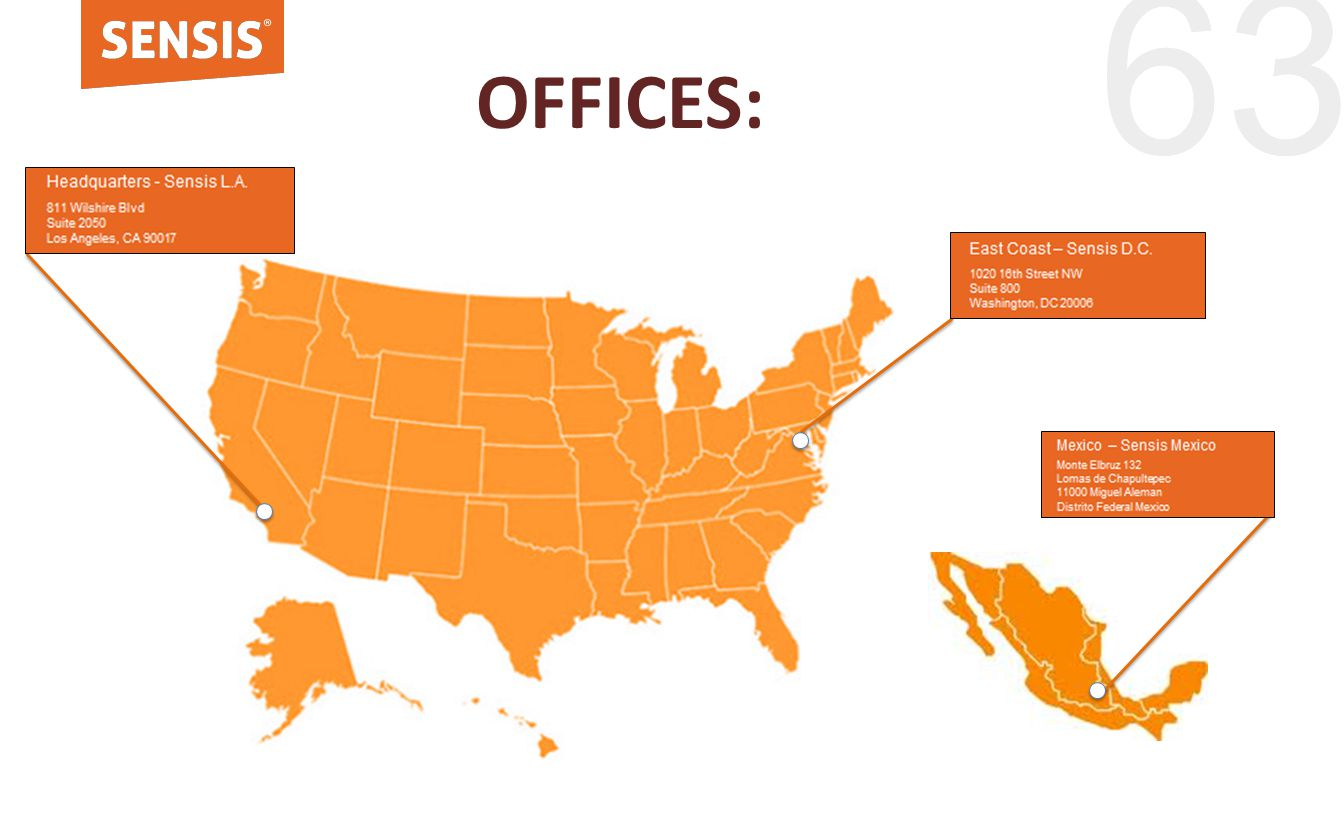63 OFFICES: