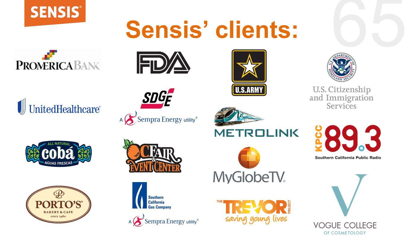 65 Sensis' clients: