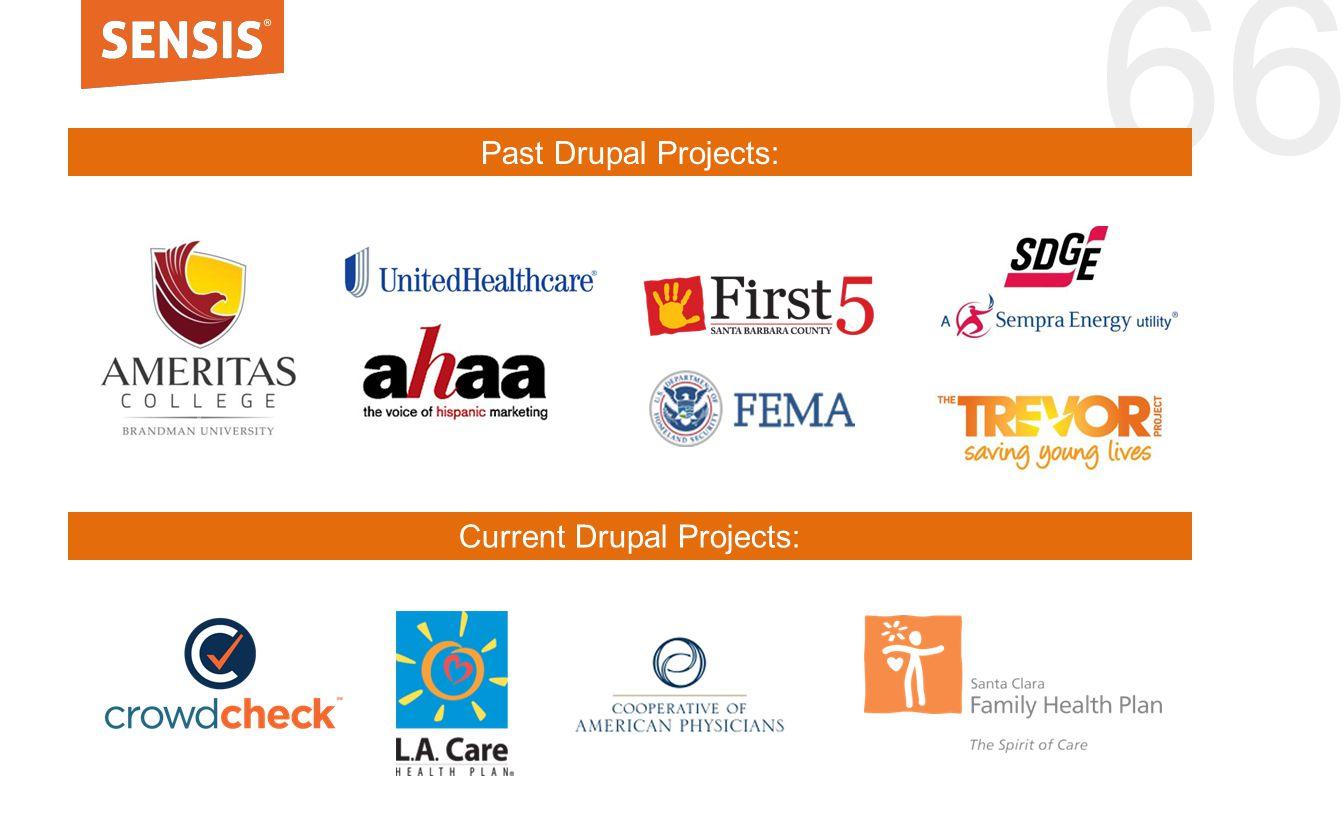 66 Current Drupal Projects: Past Drupal Projects: