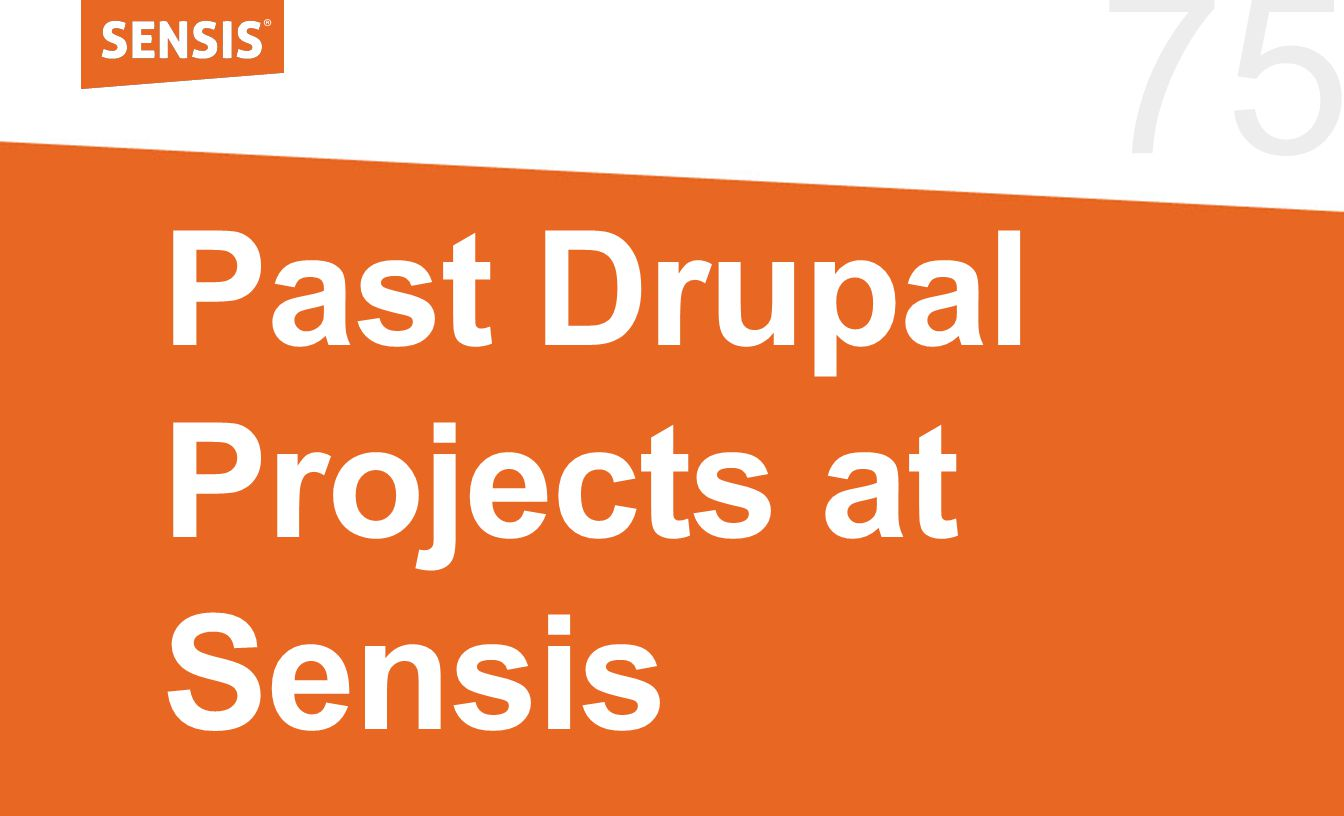 75 Past Drupal Projects at Sensis