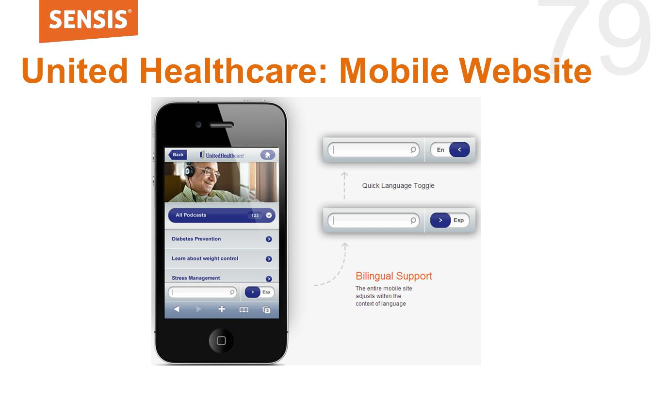 79 United Healthcare: Mobile Website