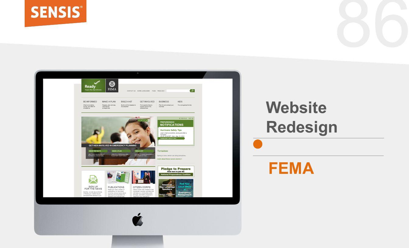 86 Website Redesign FEMA