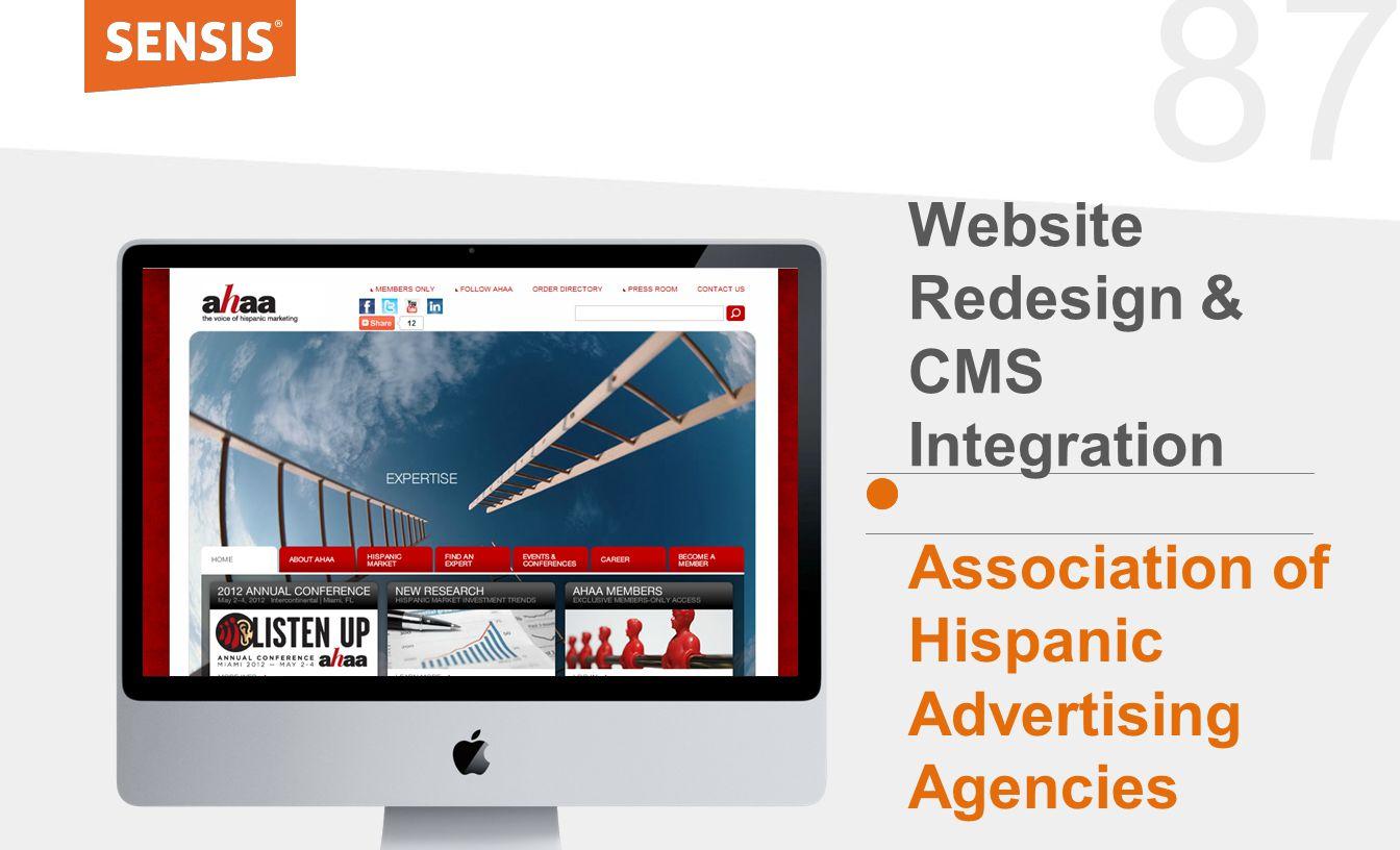 87 Website Redesign & CMS Integration Association of Hispanic Advertising Agencies