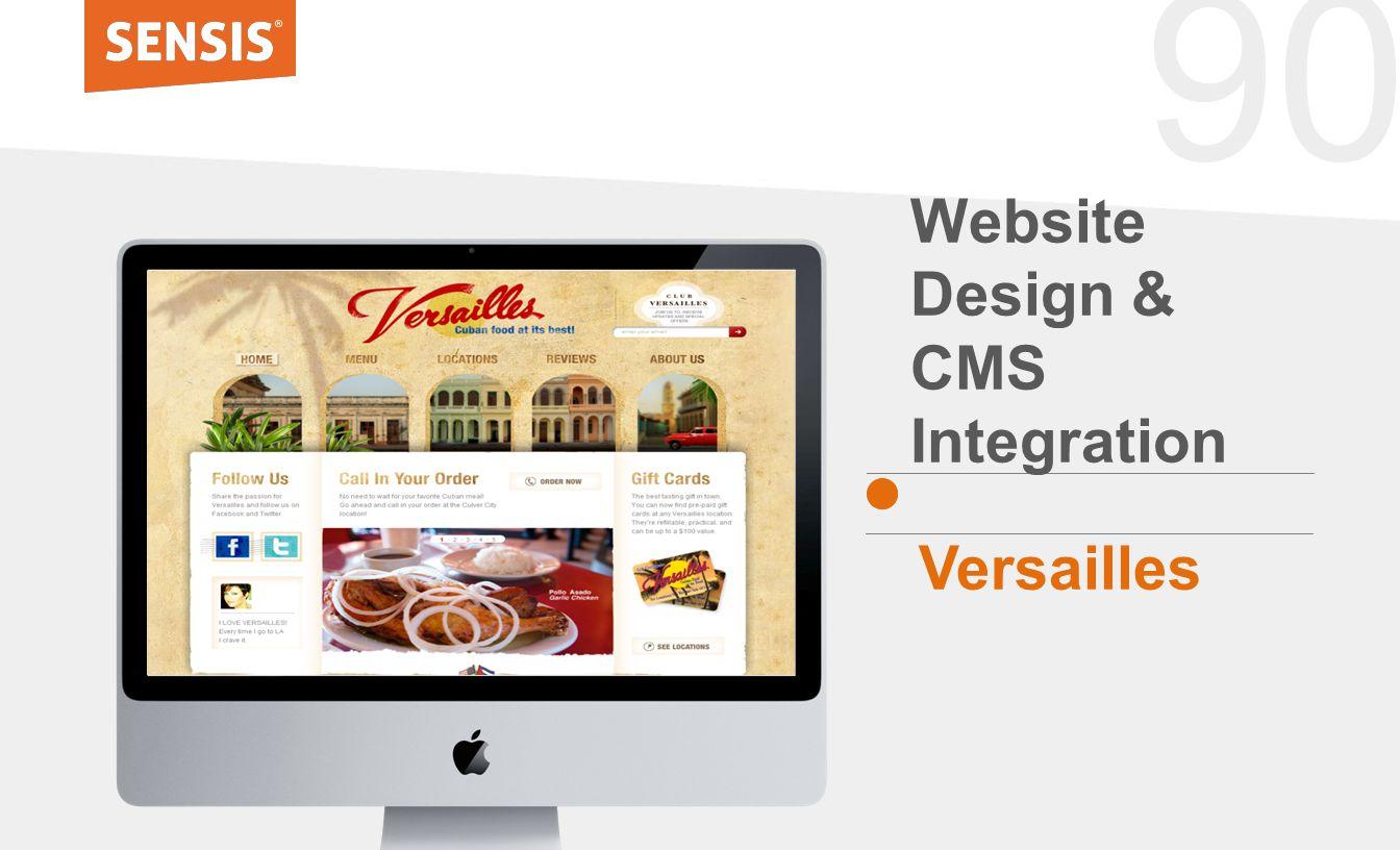 90 Website Design & CMS Integration Versailles