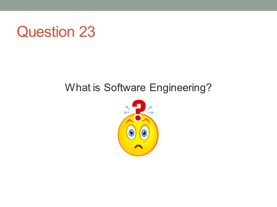 Question 23 What is Software Engineering?