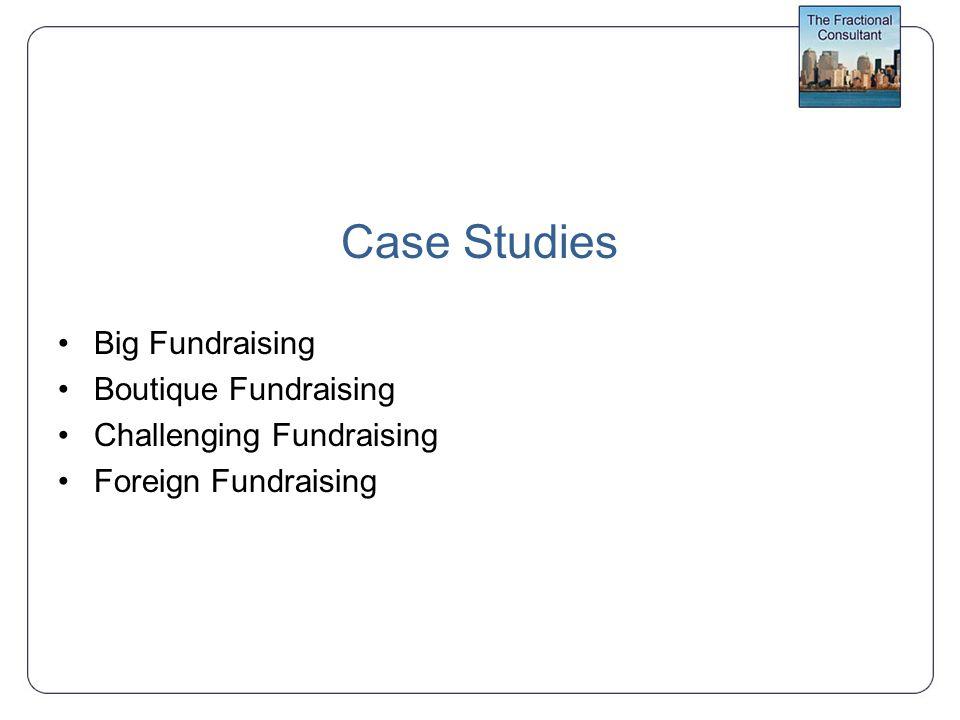 Case Studies Big Fundraising Boutique Fundraising Challenging Fundraising Foreign Fundraising