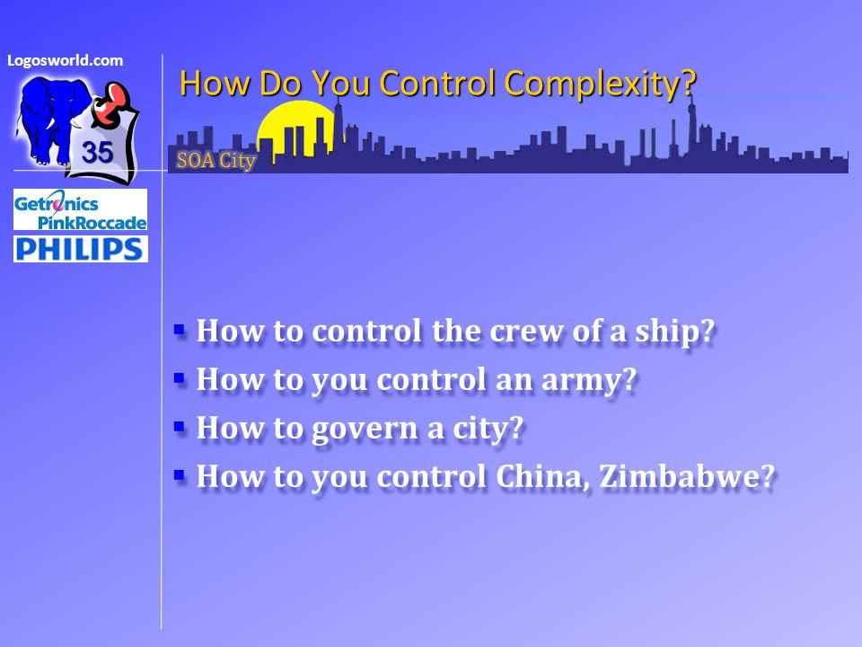 Logosworld.com How Do You Control Complexity.  How to control the crew of a ship.