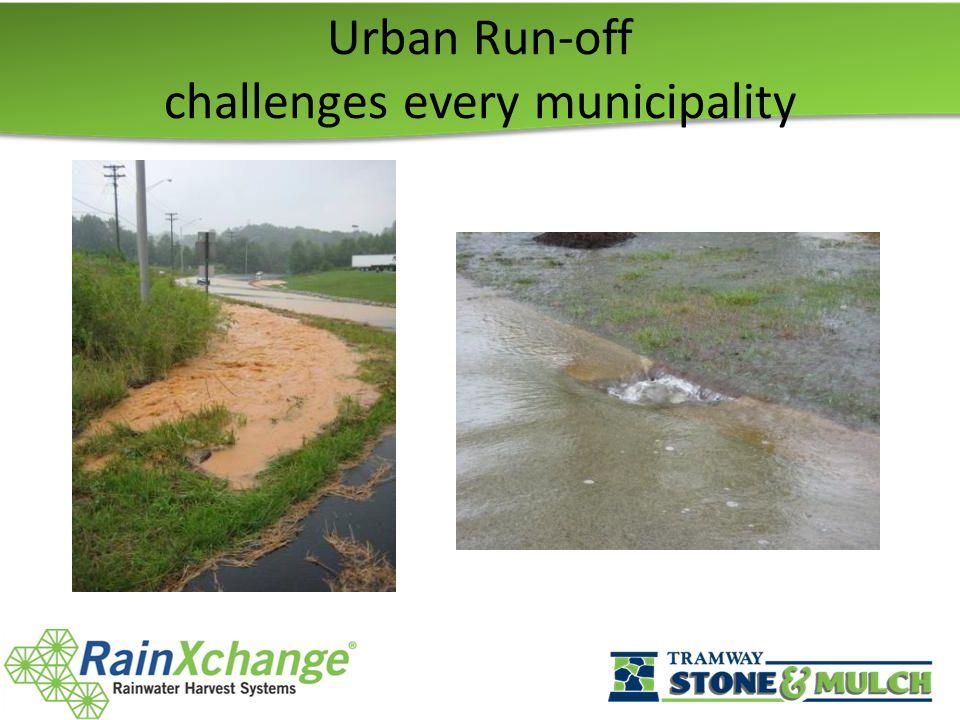 Urban Run-off challenges every municipality