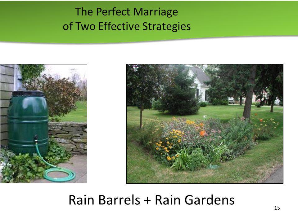 The Perfect Marriage of Two Effective Strategies 15 Rain Barrels + Rain Gardens