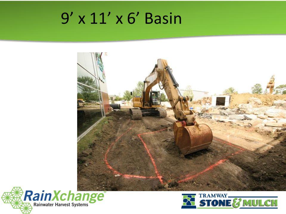 9' x 11' x 6' Basin