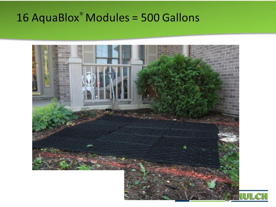16 AquaBlox ® Modules = 500 Gallons