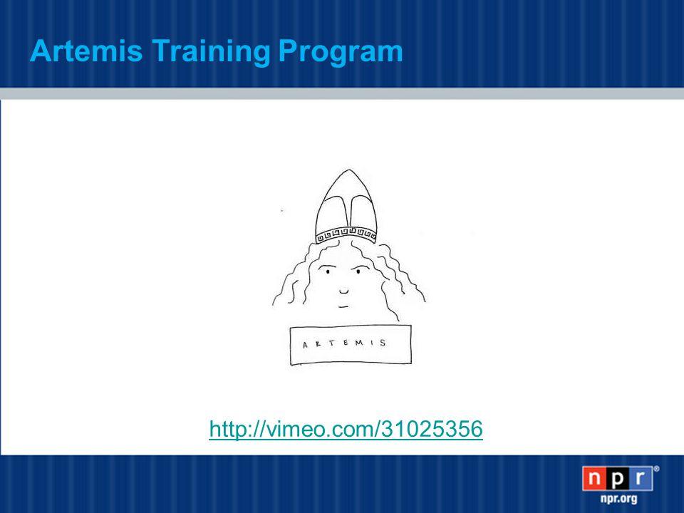 http://vimeo.com/31025356 Artemis Training Program