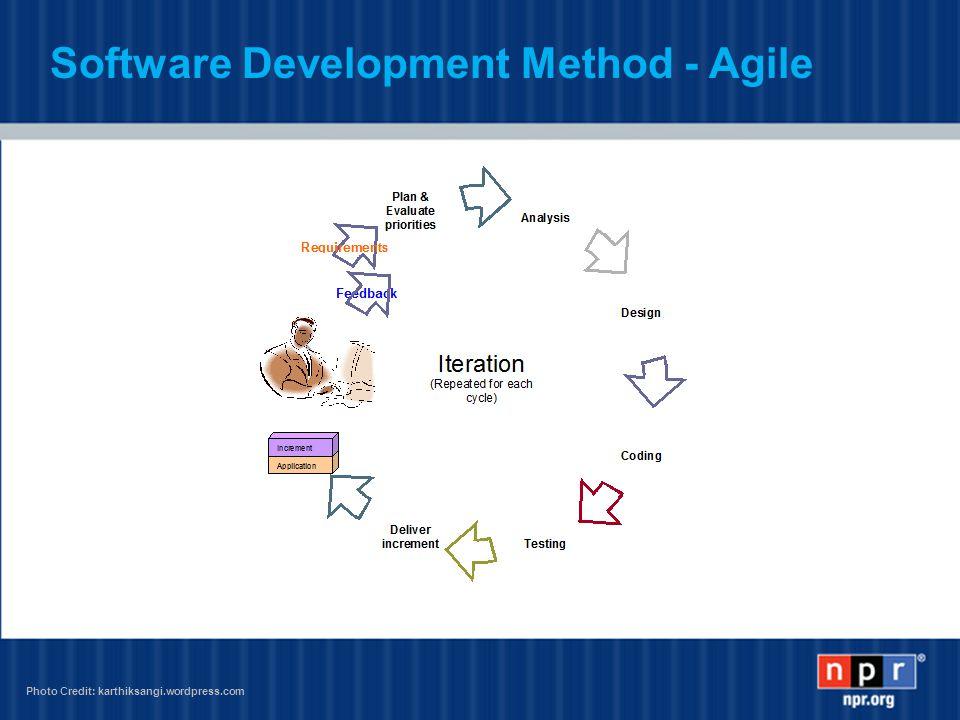 Software Development Method - Agile Photo Credit: karthiksangi.wordpress.com