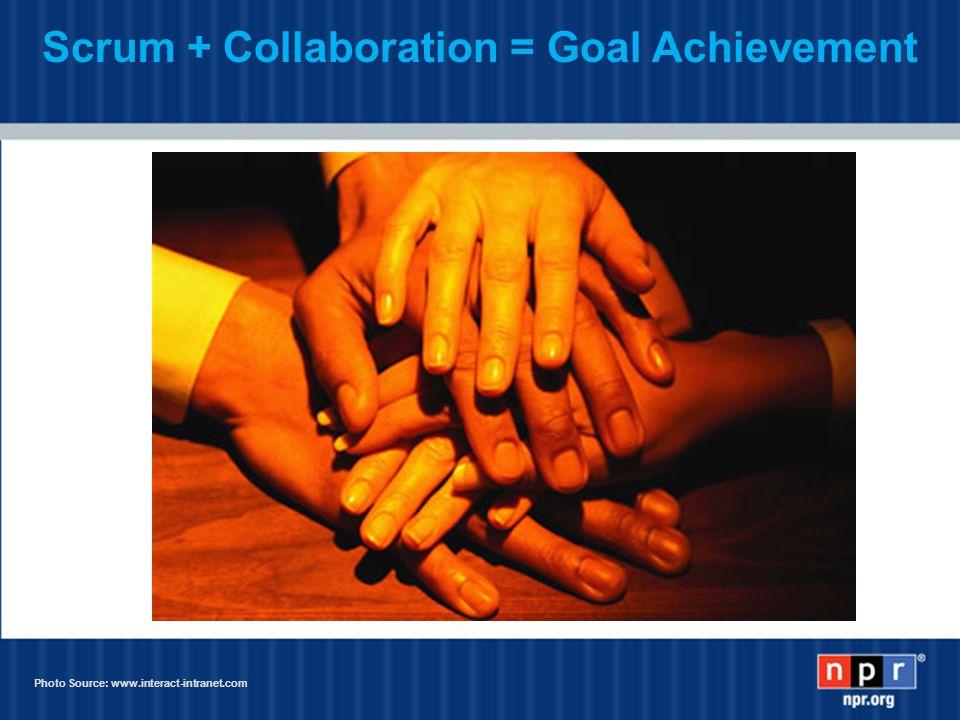 Scrum + Collaboration = Goal Achievement Photo Source: www.interact-intranet.com